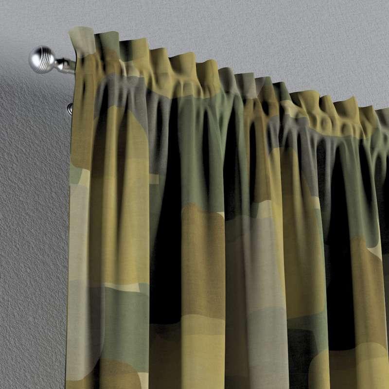 Záves s navliekacou riasiacou páskou V kolekcii Vintage 70's, tkanina: 143-72
