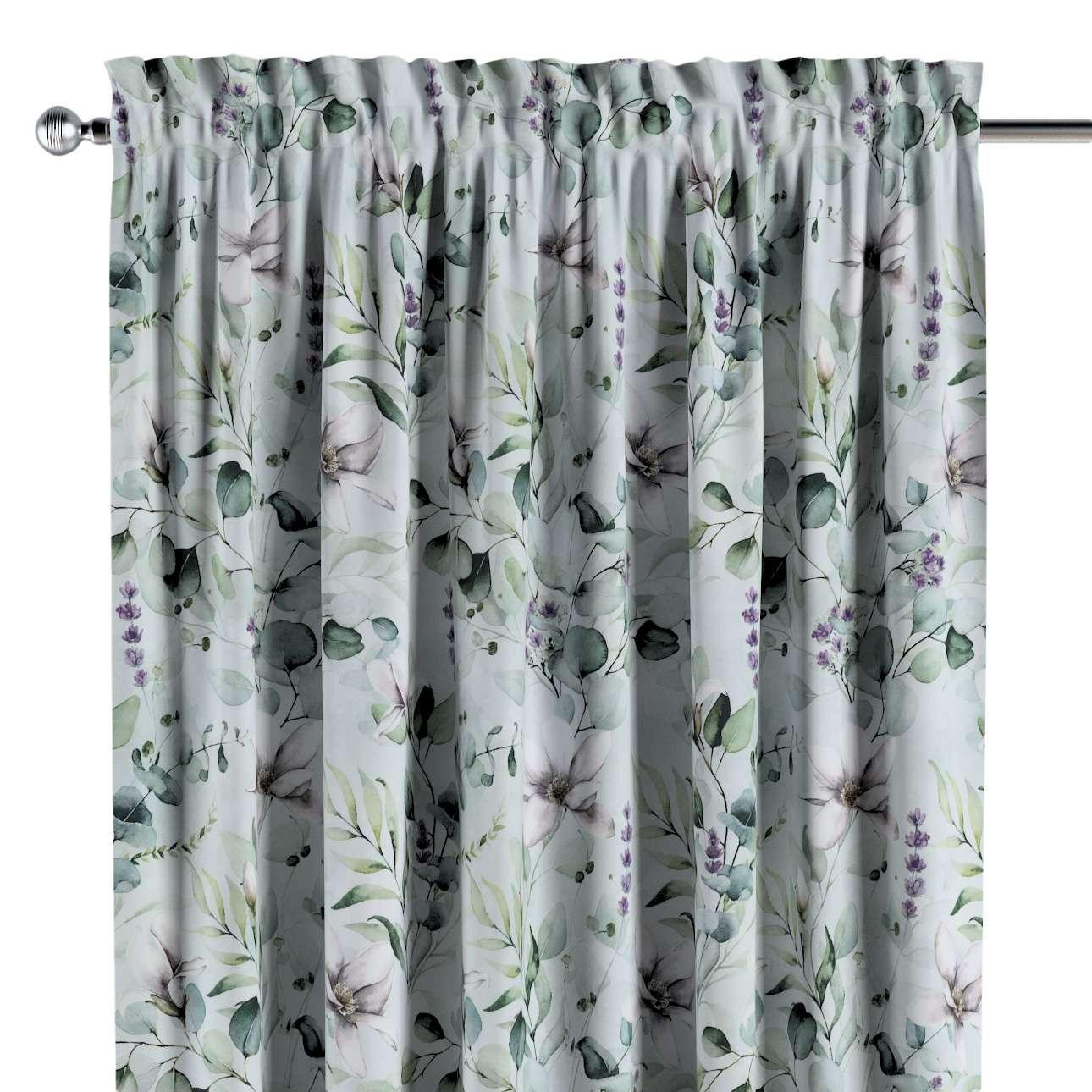 Záves s navliekacou riasiacou páskou V kolekcii Flowers, tkanina: 143-66