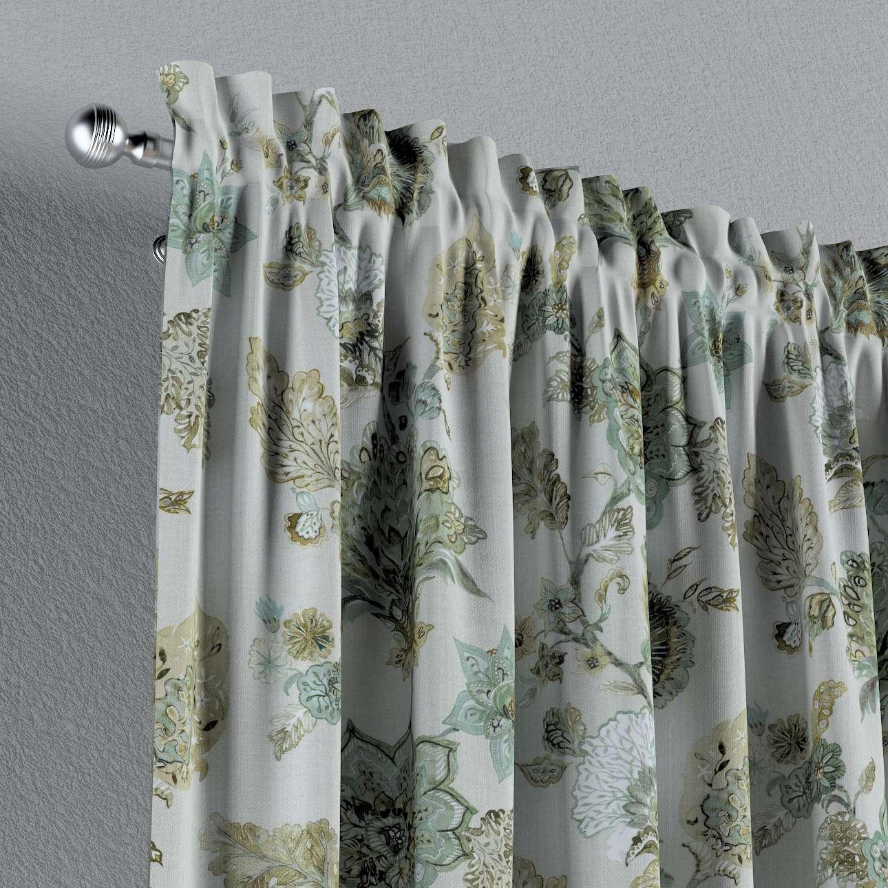 Zasłona na kanale z grzywką 1 szt. w kolekcji Flowers, tkanina: 143-67