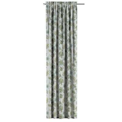 Vorhang mit Tunnel und Köpfchen von der Kollektion Flowers, Stoff: 143-67