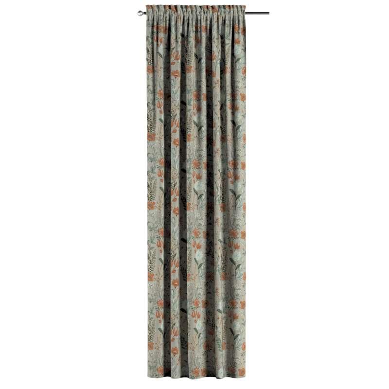 Vorhang mit Tunnel und Köpfchen von der Kollektion Flowers, Stoff: 143-70
