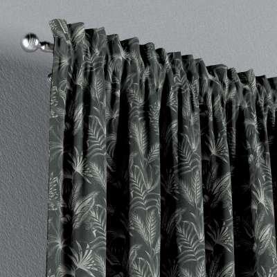 Zasłona na kanale z grzywką 1 szt. w kolekcji Flowers, tkanina: 143-73