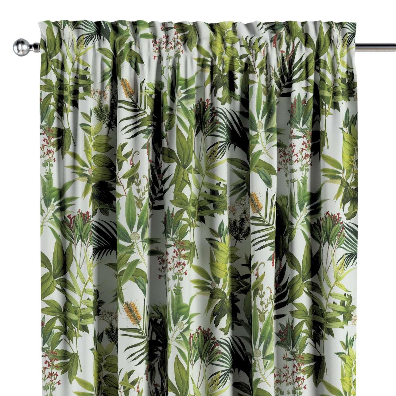 Záves s navliekacou riasiacou páskou V kolekcii Tropical Island, tkanina: 143-69