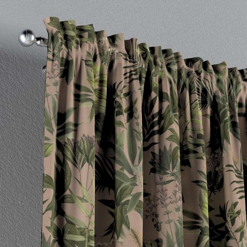 Vorhang mit Tunnel und Köpfchen von der Kollektion Tropical Island, Stoff: 143-71