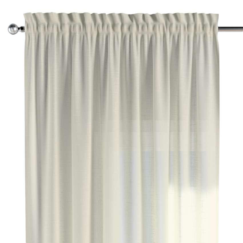 vorhang mit tunnel und k pfchen creme dekoria. Black Bedroom Furniture Sets. Home Design Ideas