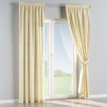 Slot and frill curtains 130 x 260 cm (51 x 102 inch) in collection Damasco, fabric: 613-01