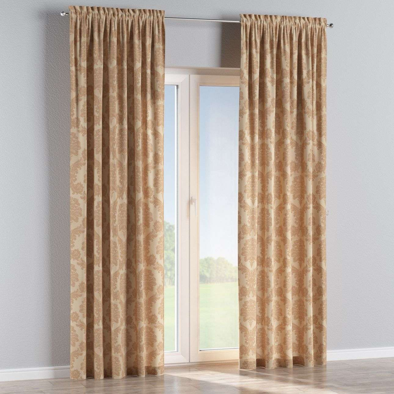 Slot and frill curtains 130 x 260 cm (51 x 102 inch) in collection Damasco, fabric: 613-04