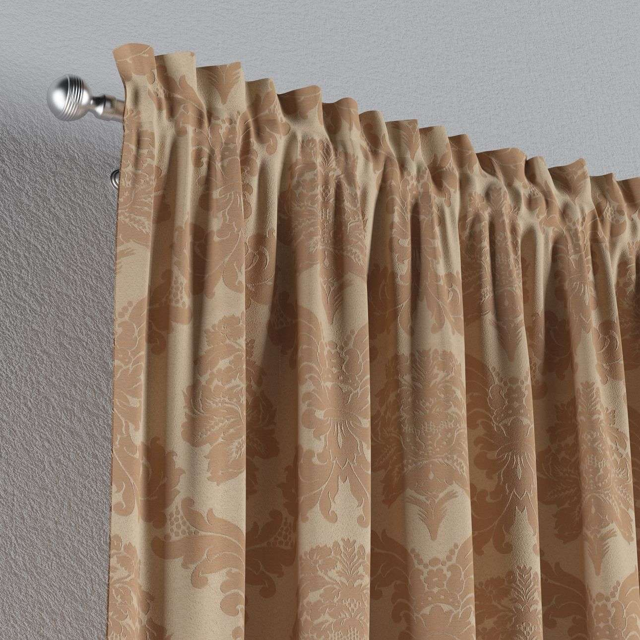 Slot and frill curtains 130 × 260 cm (51 × 102 inch) in collection Damasco, fabric: 613-04