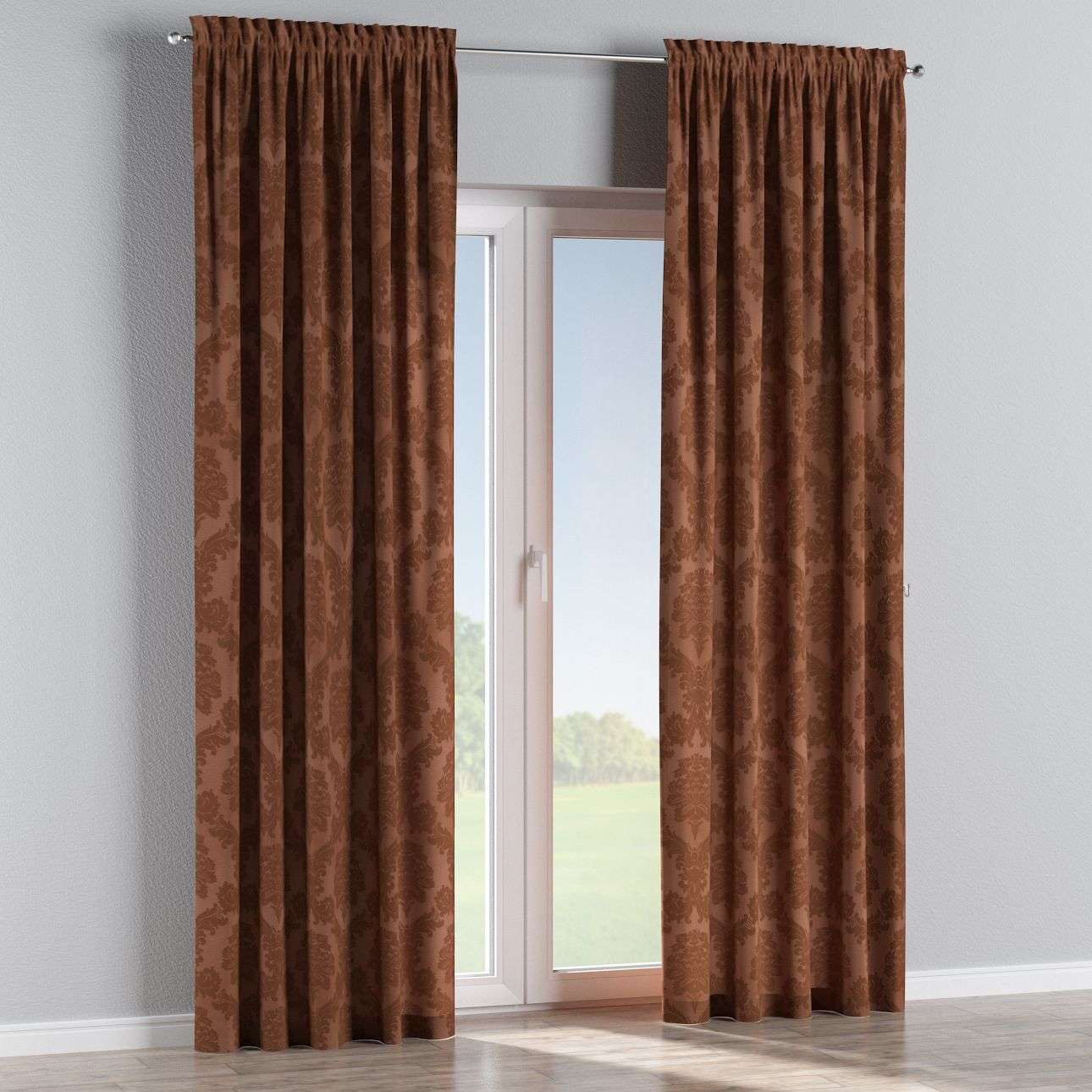 Slot and frill curtains in collection Damasco, fabric: 613-88