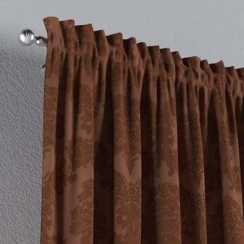Zasłona na kanale z grzywką 1 szt. 1szt 130x260 cm w kolekcji Damasco, tkanina: 613-88