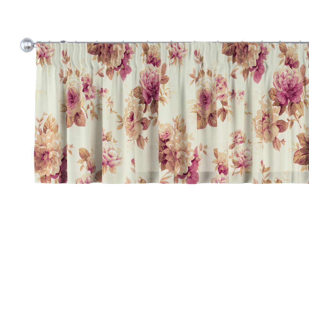 Krátky záves na riasiacej páske V kolekcii Londres, tkanina: 141-06