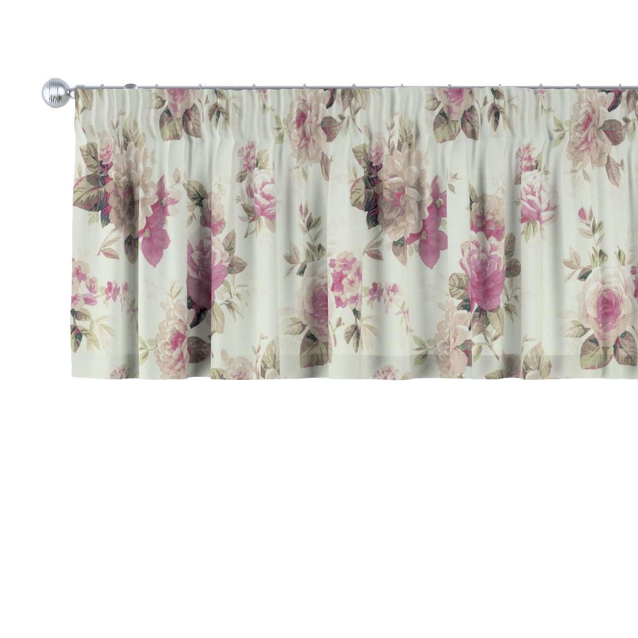 Krátky záves na riasiacej páske V kolekcii Londres, tkanina: 141-07