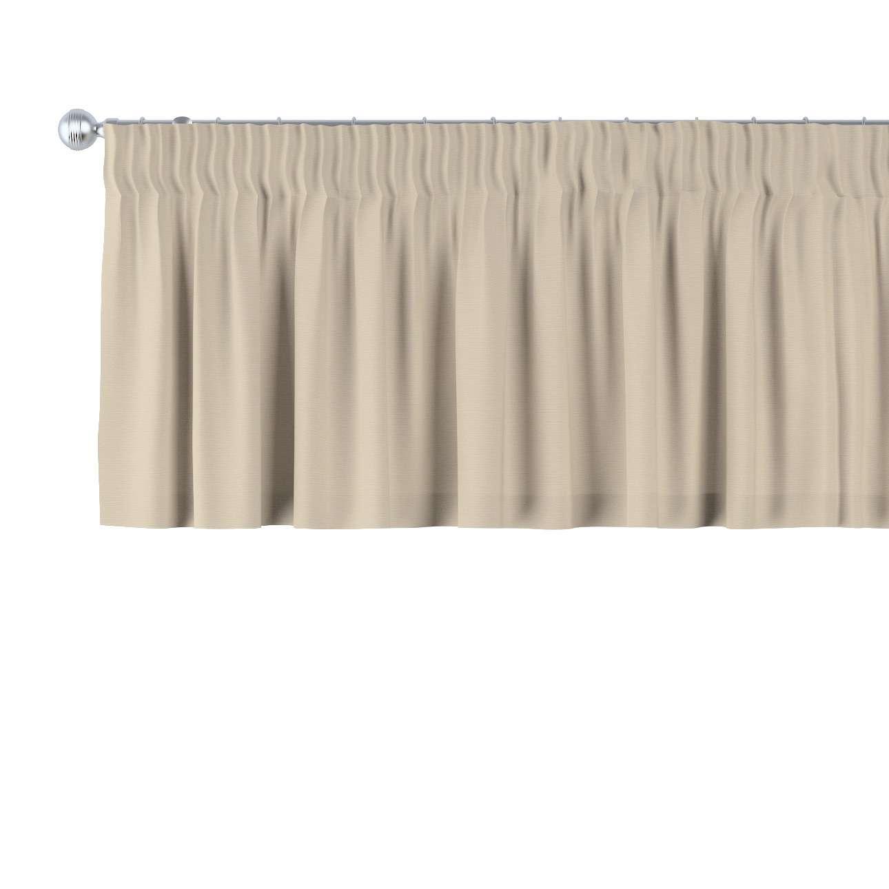Trumpa užuolaidėlė (lambrekenas) pieštukinis klostavimas 130 x 40 cm kolekcijoje Cotton Panama, audinys: 702-01