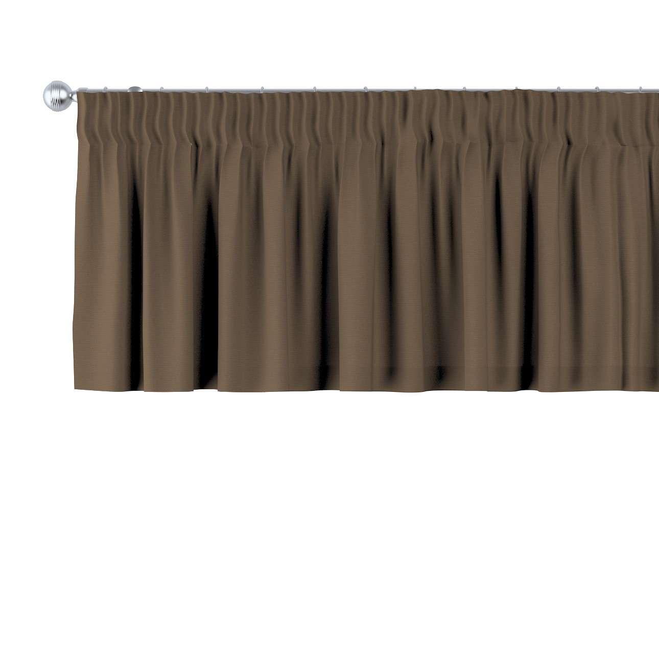 Krátky záves na riasiacej páske V kolekcii Cotton Panama, tkanina: 702-02