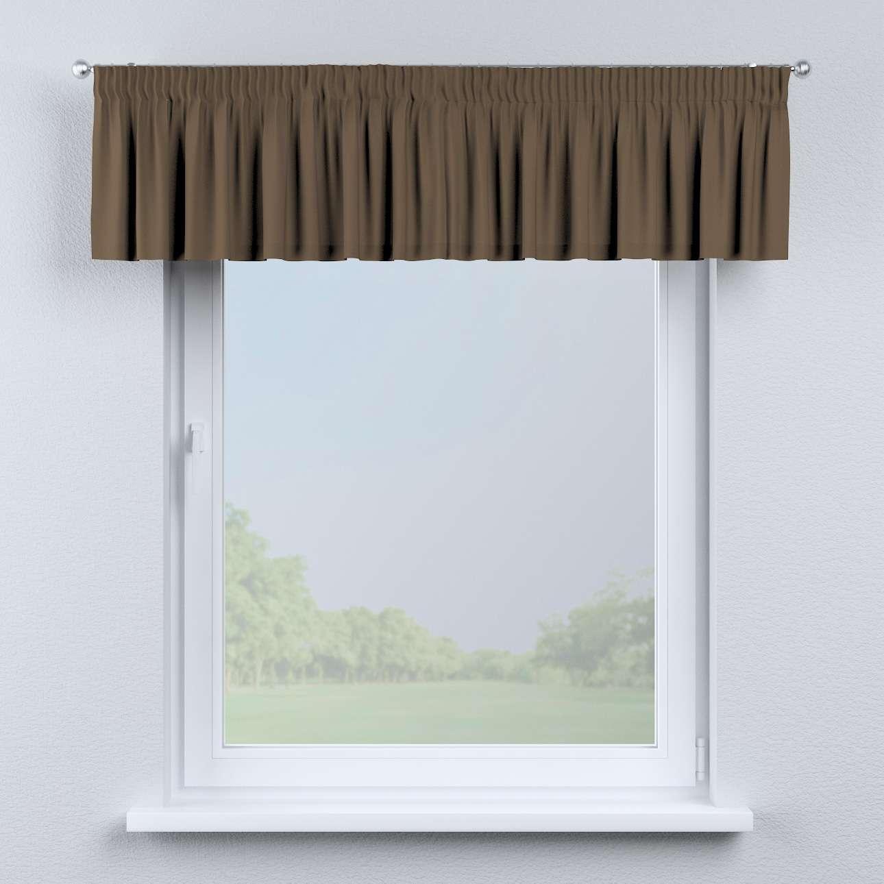 Gardinkappe med rynkebånd 130 × 40 cm fra kollektionen Cotton Panama, Stof: 702-02