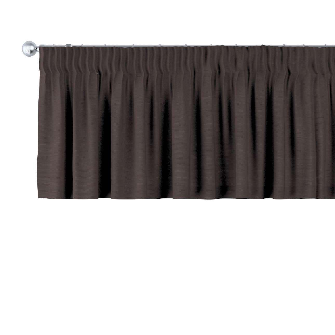 Kurzgardine mit Kräuselband, Kaffee, 390 × 40 cm, Cotton Panama