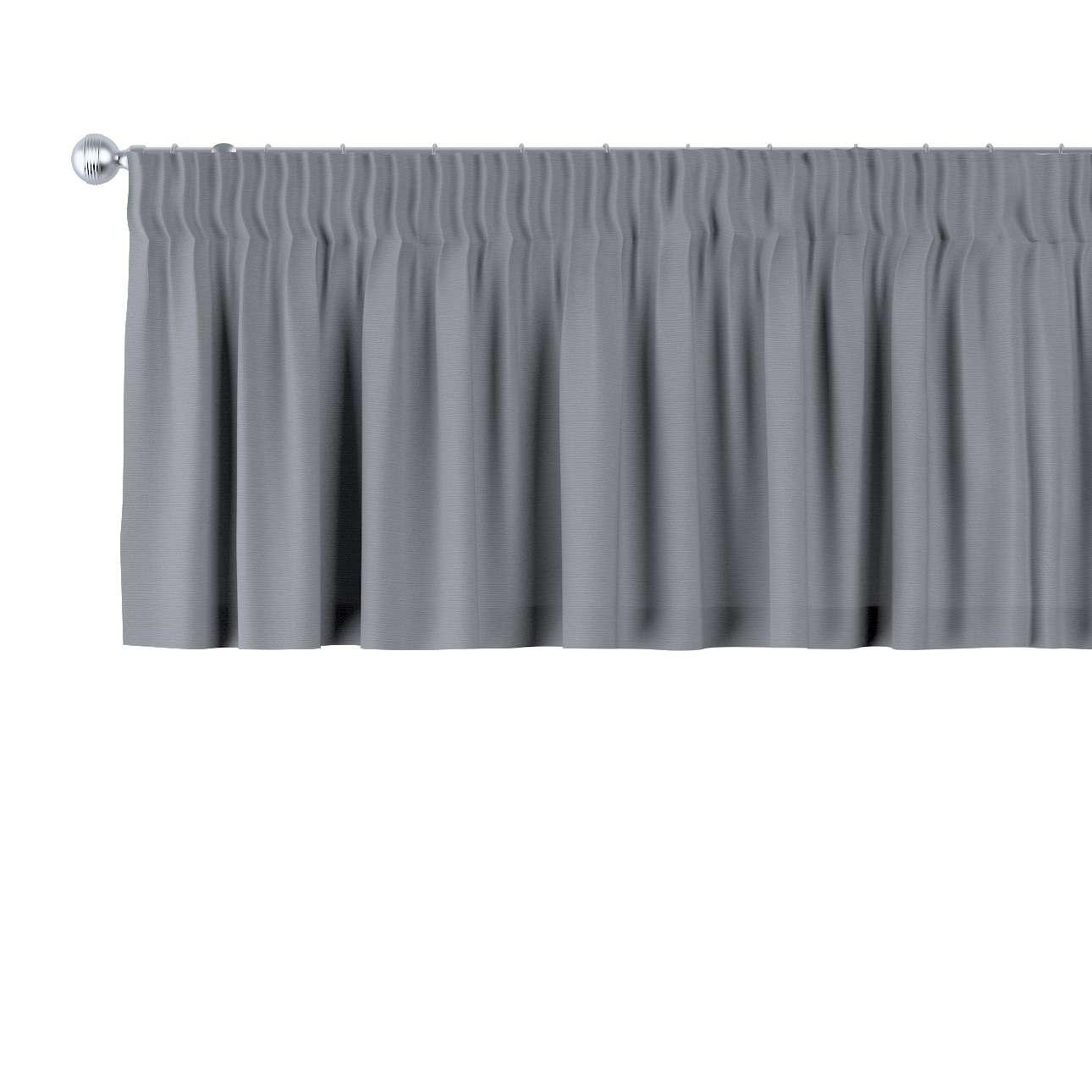 Krátky záves na riasiacej páske V kolekcii Cotton Panama, tkanina: 702-07