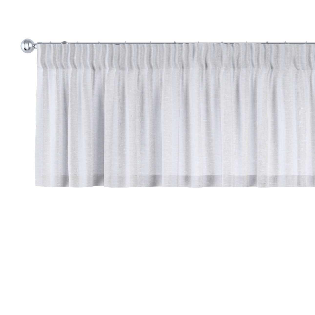 Lambrekin na taśmie marszczącej 130 x 40 cm w kolekcji Linen, tkanina: 392-03