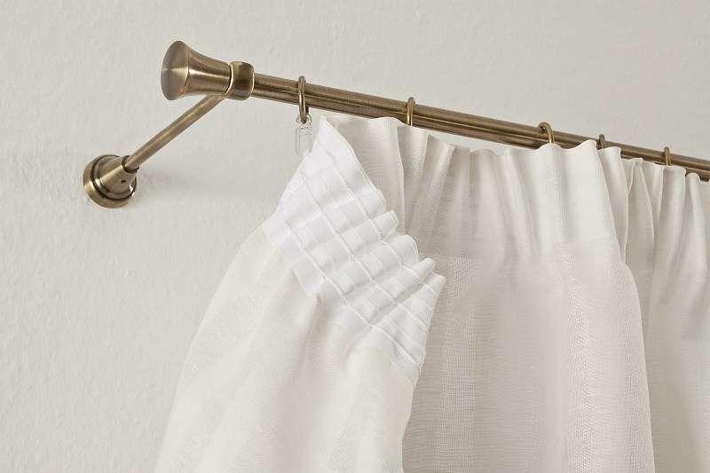 Krátky záves na riasiacej páske V kolekcii Linen, tkanina: 392-03
