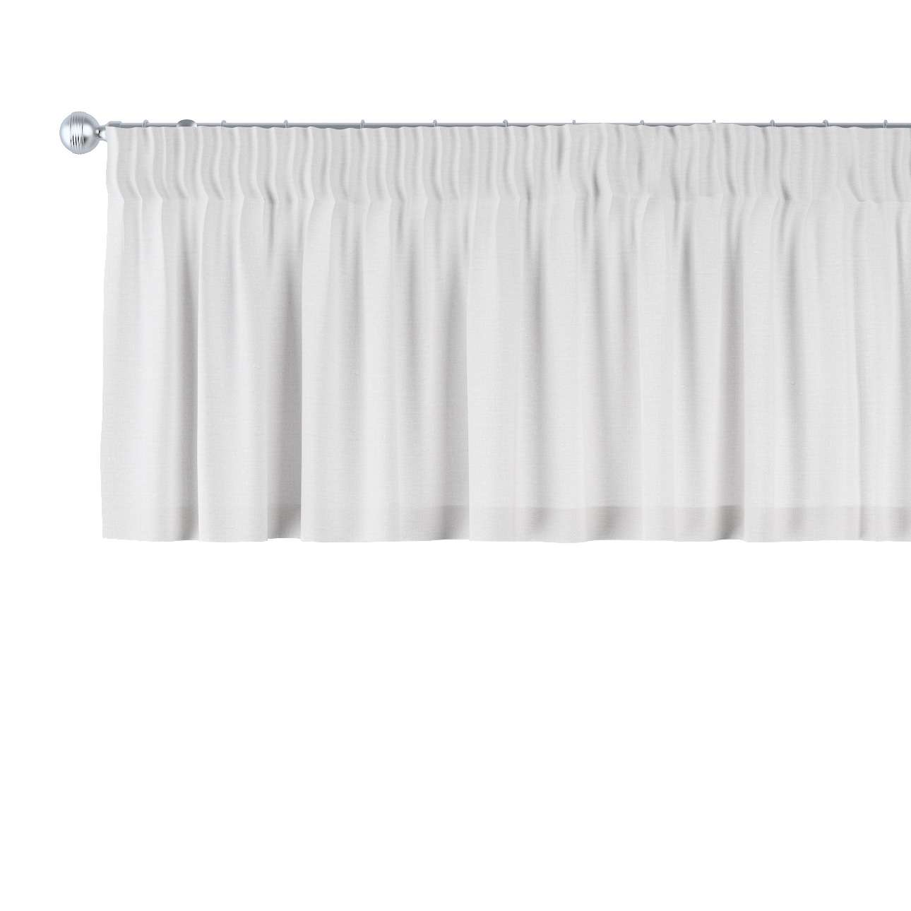 Gardinkappa med rynkband 130 × 40 cm i kollektionen Linne, Tyg: 392-04