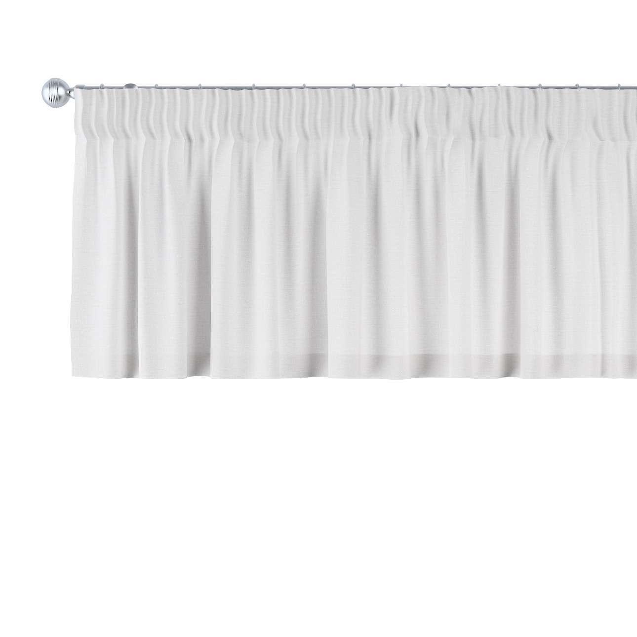 Trumpa užuolaidėlė (lambrekenas) pieštukinis klostavimas 130 x 40 cm kolekcijoje Linen , audinys: 392-04