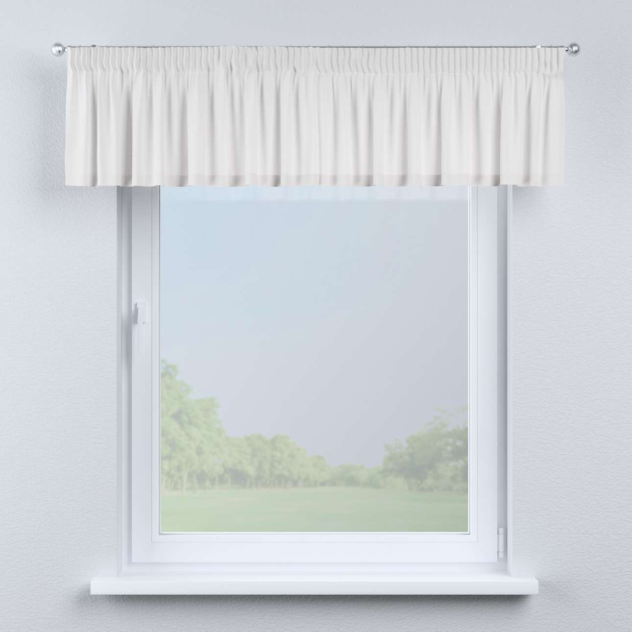 Pencil pleat pelmet 130 x 40 cm (51 x 16 inch) in collection Linen, fabric: 392-04
