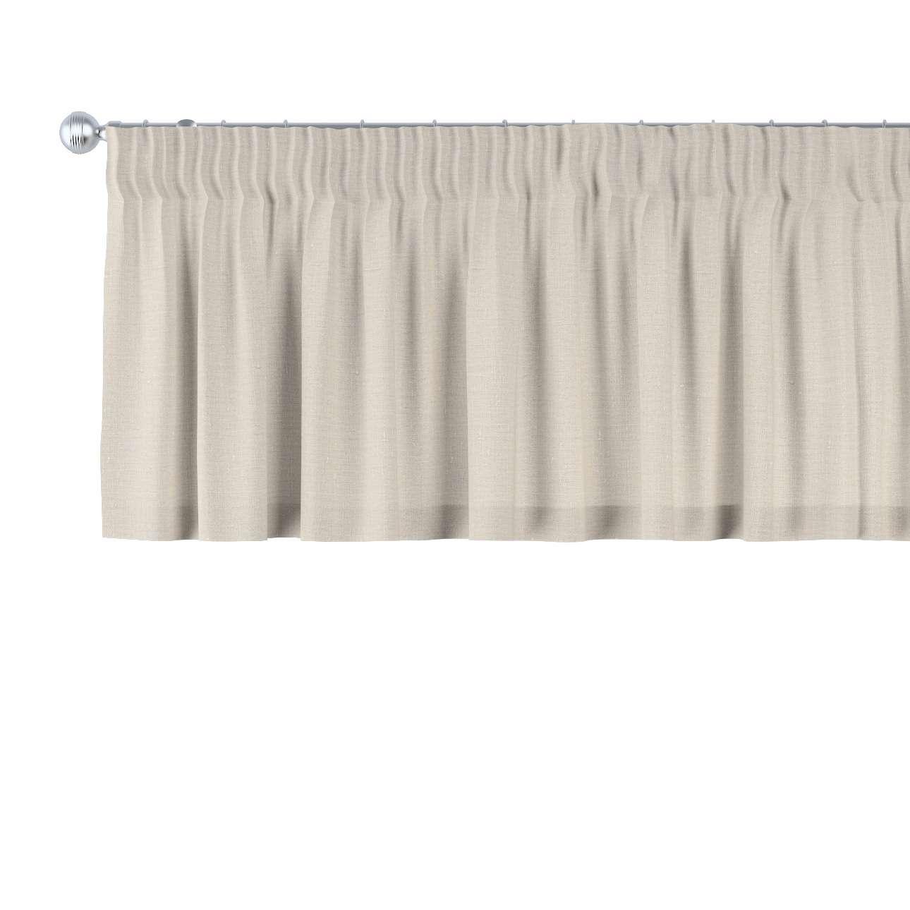 Trumpa užuolaidėlė (lambrekenas) pieštukinis klostavimas 130 x 40 cm kolekcijoje Linen , audinys: 392-05