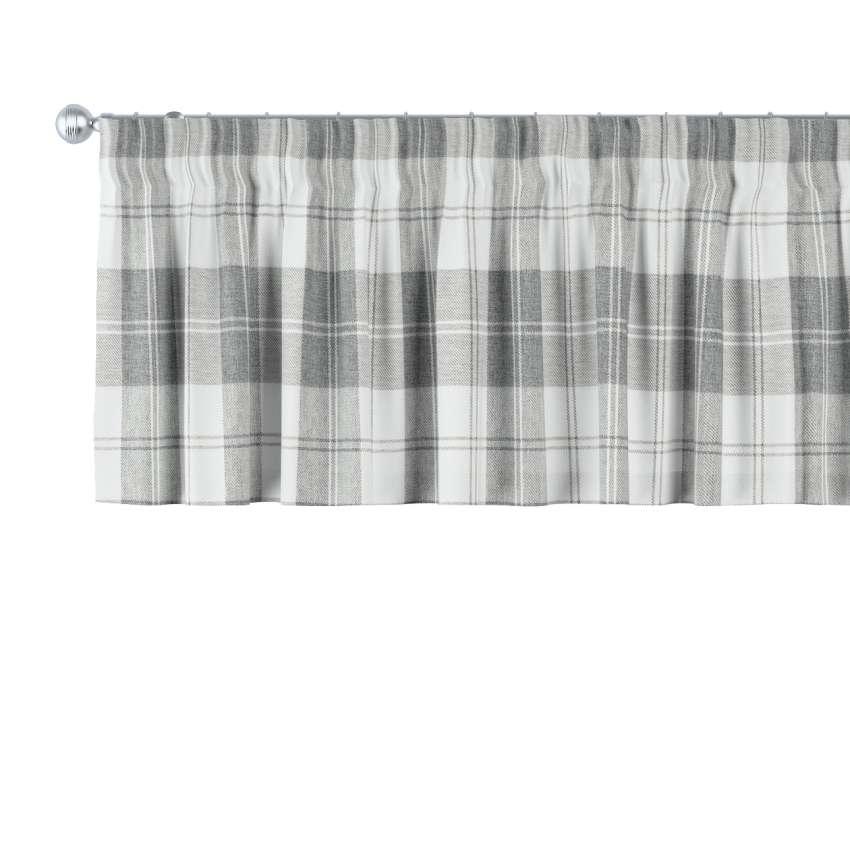 kurzgardine mit kr uselband wei grau 260 x 40 cm dekoria. Black Bedroom Furniture Sets. Home Design Ideas