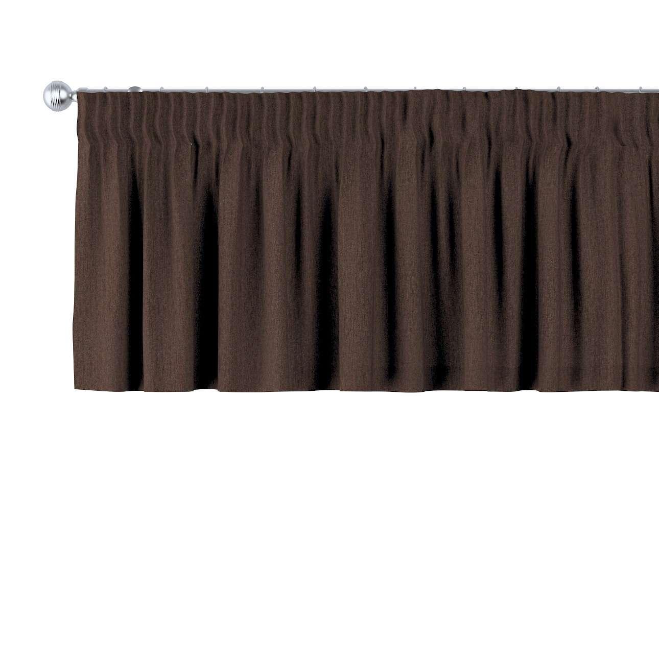 Gardinkappa med rynkband 130 × 40 cm i kollektionen Chenille, Tyg: 702-18