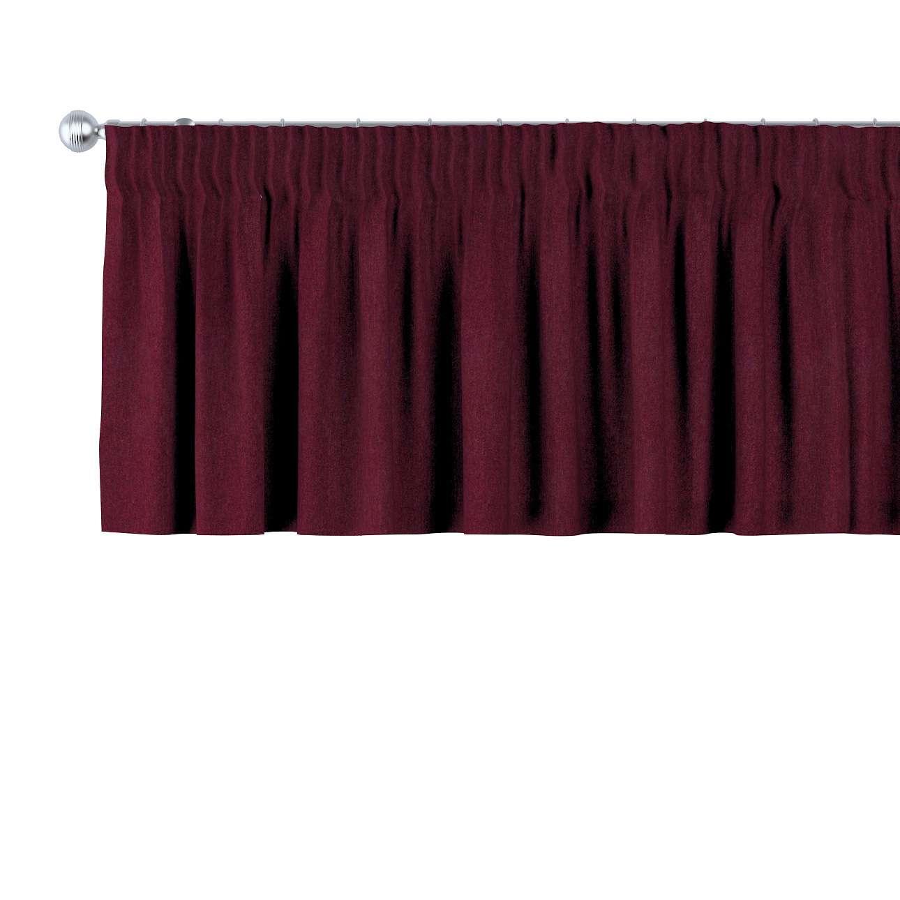 Krátky záves na riasiacej páske 130 x 40 cm V kolekcii Chenille, tkanina: 702-19