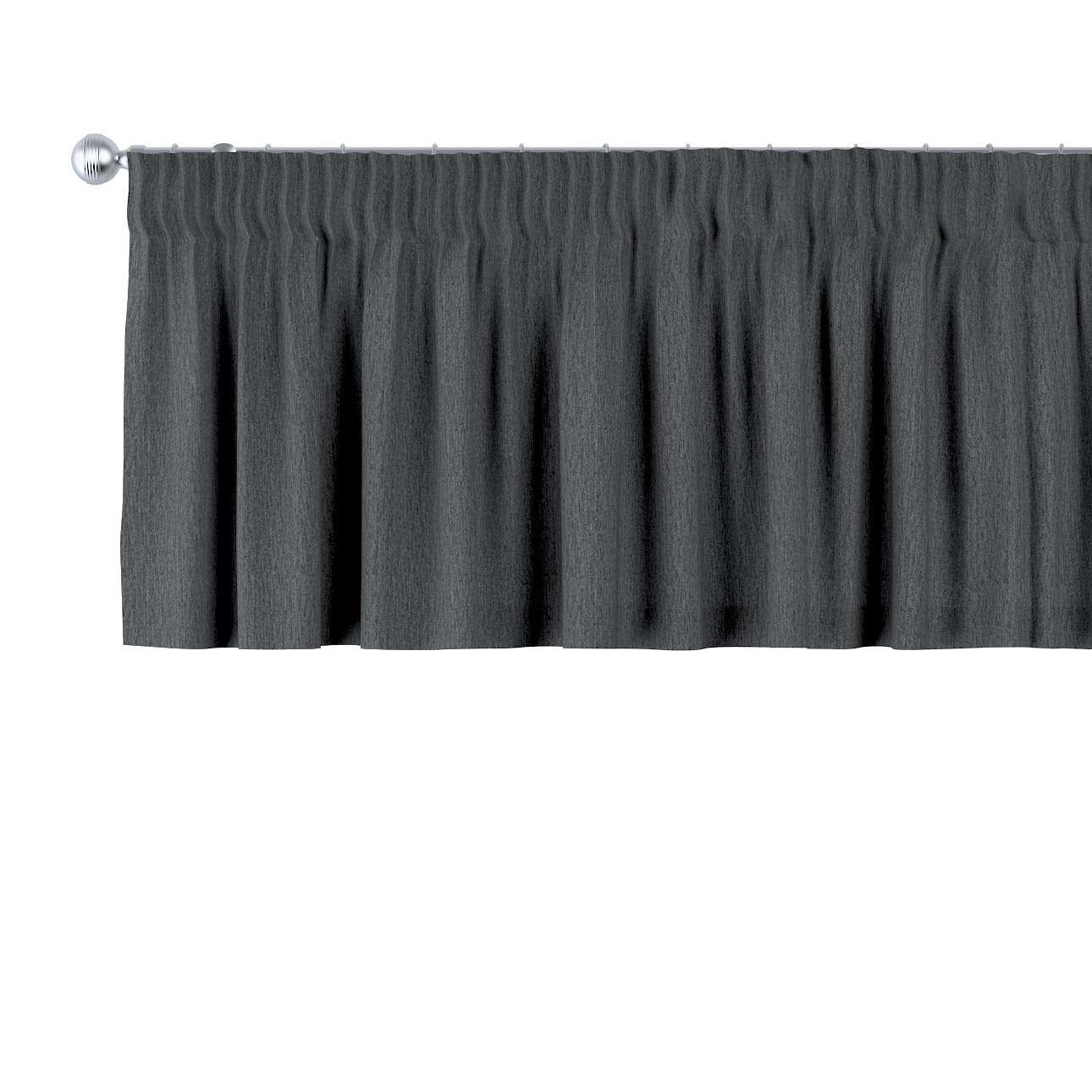 Pencil pleat pelmet in collection Chenille, fabric: 702-20