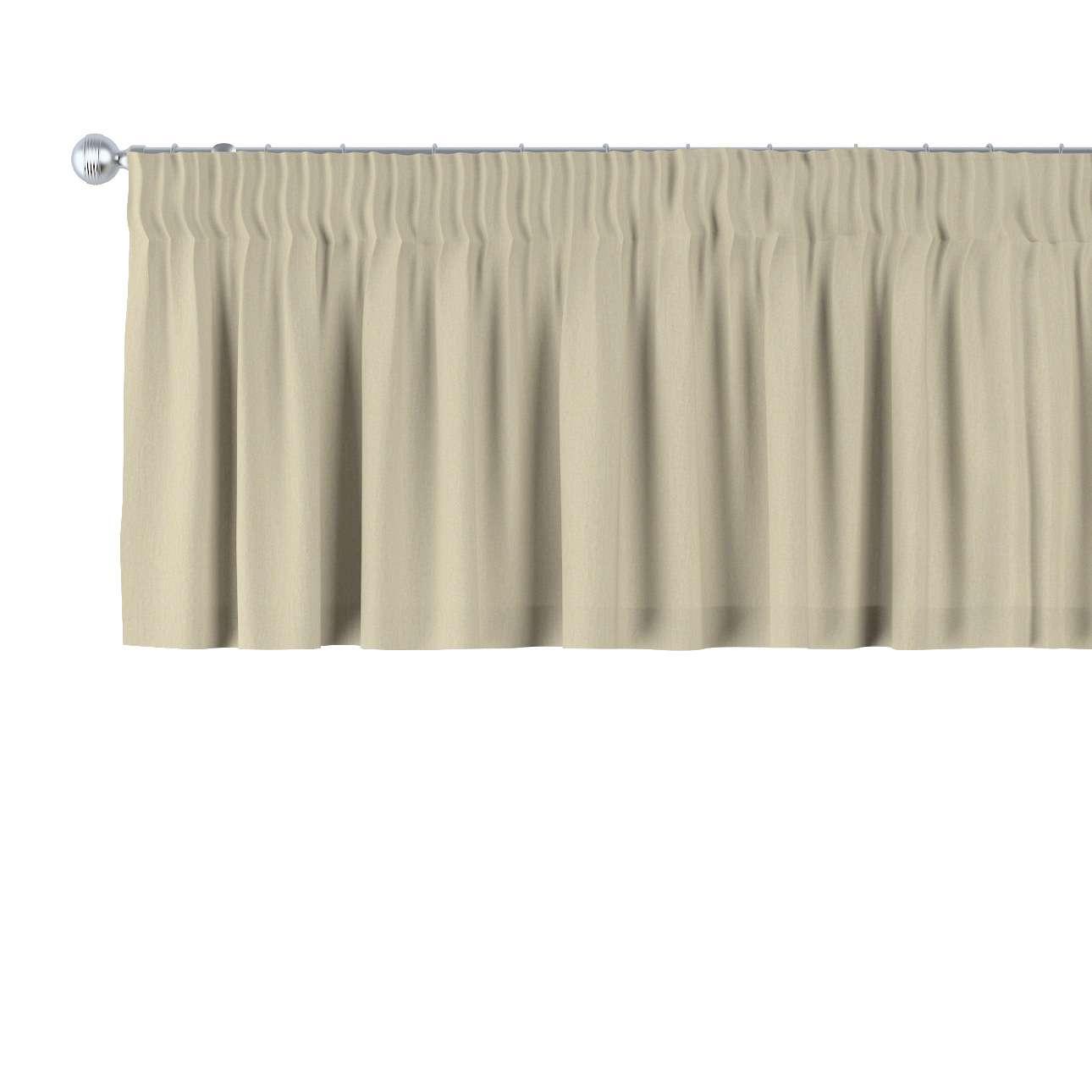 Trumpa užuolaidėlė (lambrekenas) pieštukinis klostavimas 130 x 40 cm kolekcijoje Chenille, audinys: 702-22