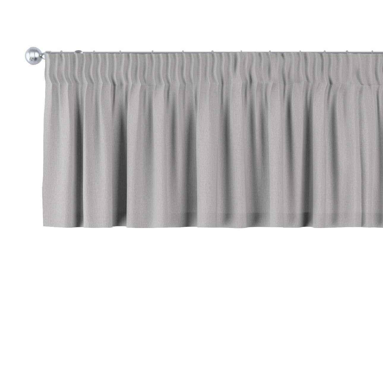 Trumpa užuolaidėlė (lambrekenas) pieštukinis klostavimas 130 x 40 cm kolekcijoje Chenille, audinys: 702-23
