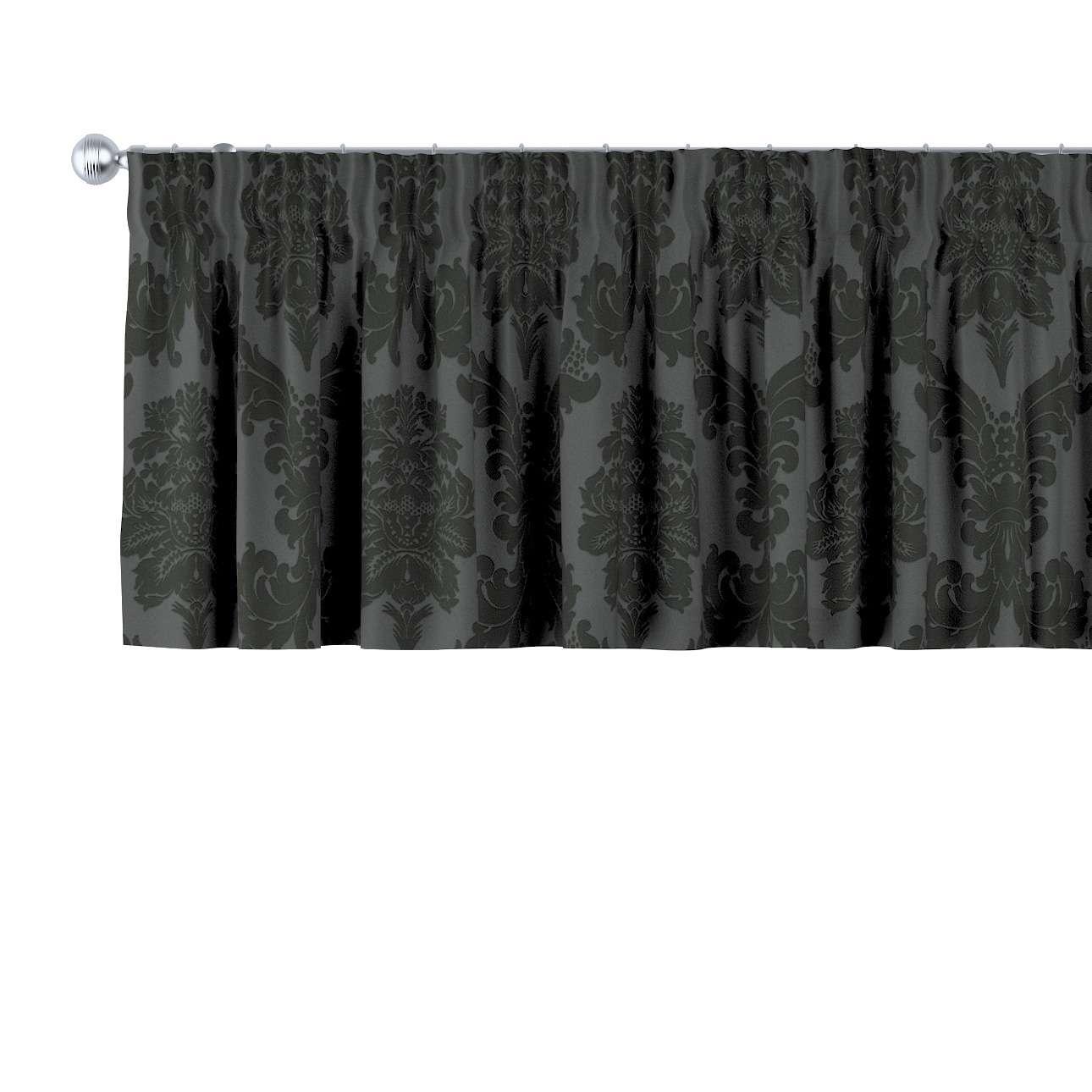 Lambrekin na taśmie marszczącej 130 x 40 cm w kolekcji Damasco, tkanina: 613-32