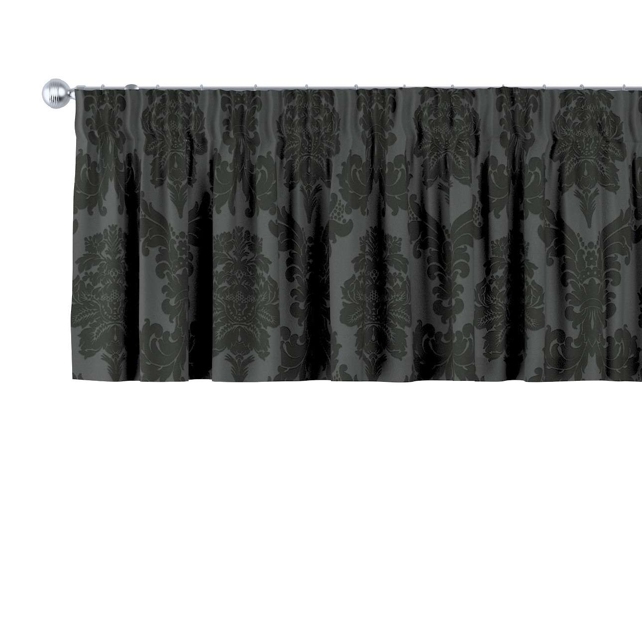 Trumpa užuolaidėlė (lambrekenas) pieštukinis klostavimas 130 x 40 cm kolekcijoje Damasco, audinys: 613-32
