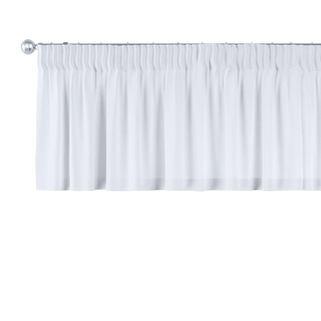 Gardinkappe med rynkebånd 130 x 40 cm fra kolleksjonen Loneta, Stoffets bredde: 133-02