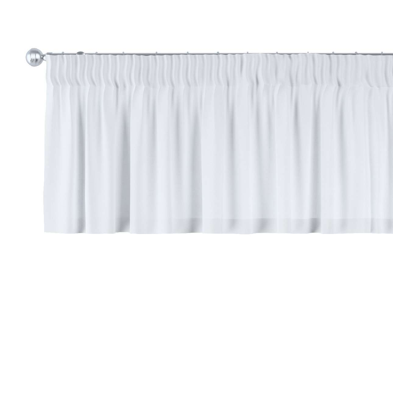 Pencil pleat pelmet 130 x 40 cm (51 x 16 inch) in collection Loneta , fabric: 133-02
