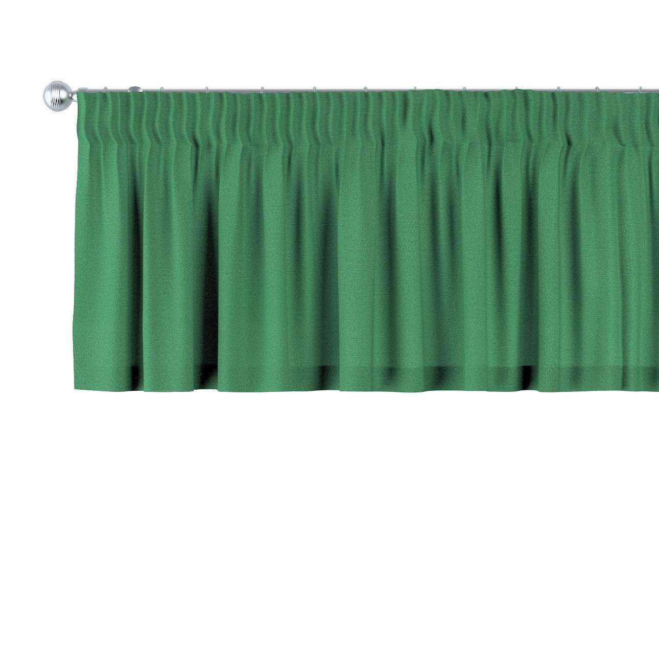 Trumpa užuolaidėlė (lambrekenas) pieštukinis klostavimas 130 x 40 cm kolekcijoje Loneta , audinys: 133-18