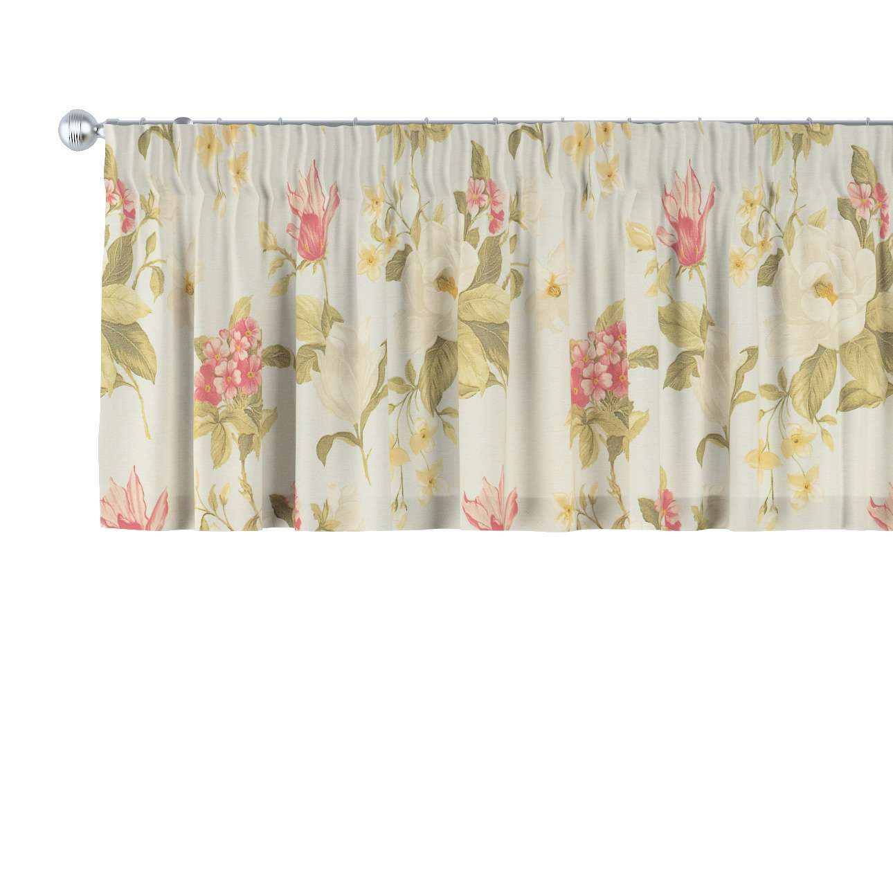 Pencil pleat pelmet 130 × 40 cm (51 × 16 inch) in collection Londres, fabric: 123-65