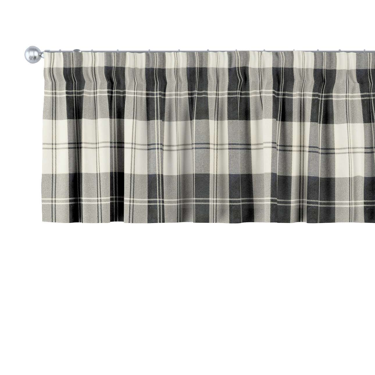 Pencil pleat pelmet 130 x 40 cm (51 x 16 inch) in collection Edinburgh, fabric: 115-74