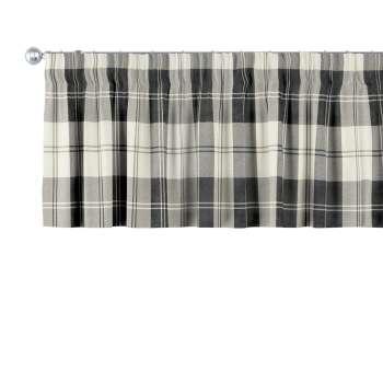 Lambrekin na taśmie marszczącej w kolekcji Edinburgh, tkanina: 115-74