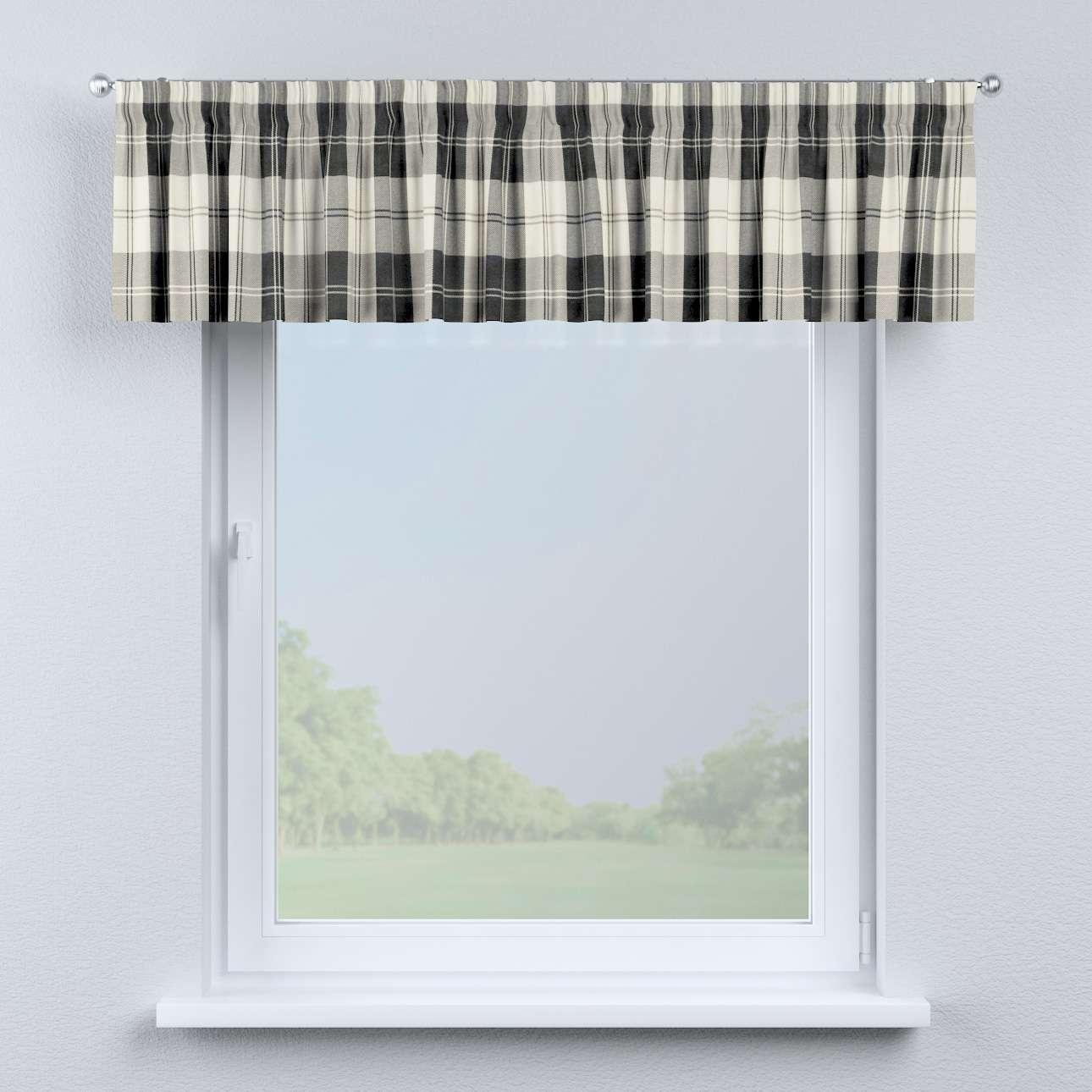 kurzgardine mit kr uselband schwarz weiss dekoria. Black Bedroom Furniture Sets. Home Design Ideas