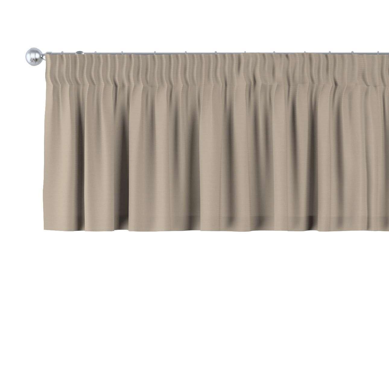 Lambrekin na taśmie marszczącej 130 x 40 cm w kolekcji Cotton Panama, tkanina: 702-28