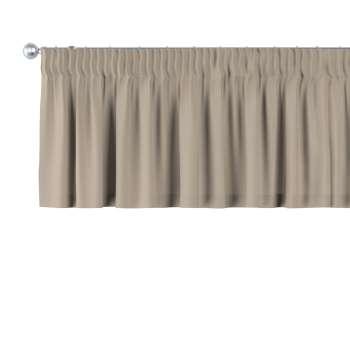Trumpa užuolaidėlė (lambrekenas) pieštukinis klostavimas 130 x 40 cm kolekcijoje Cotton Panama, audinys: 702-28