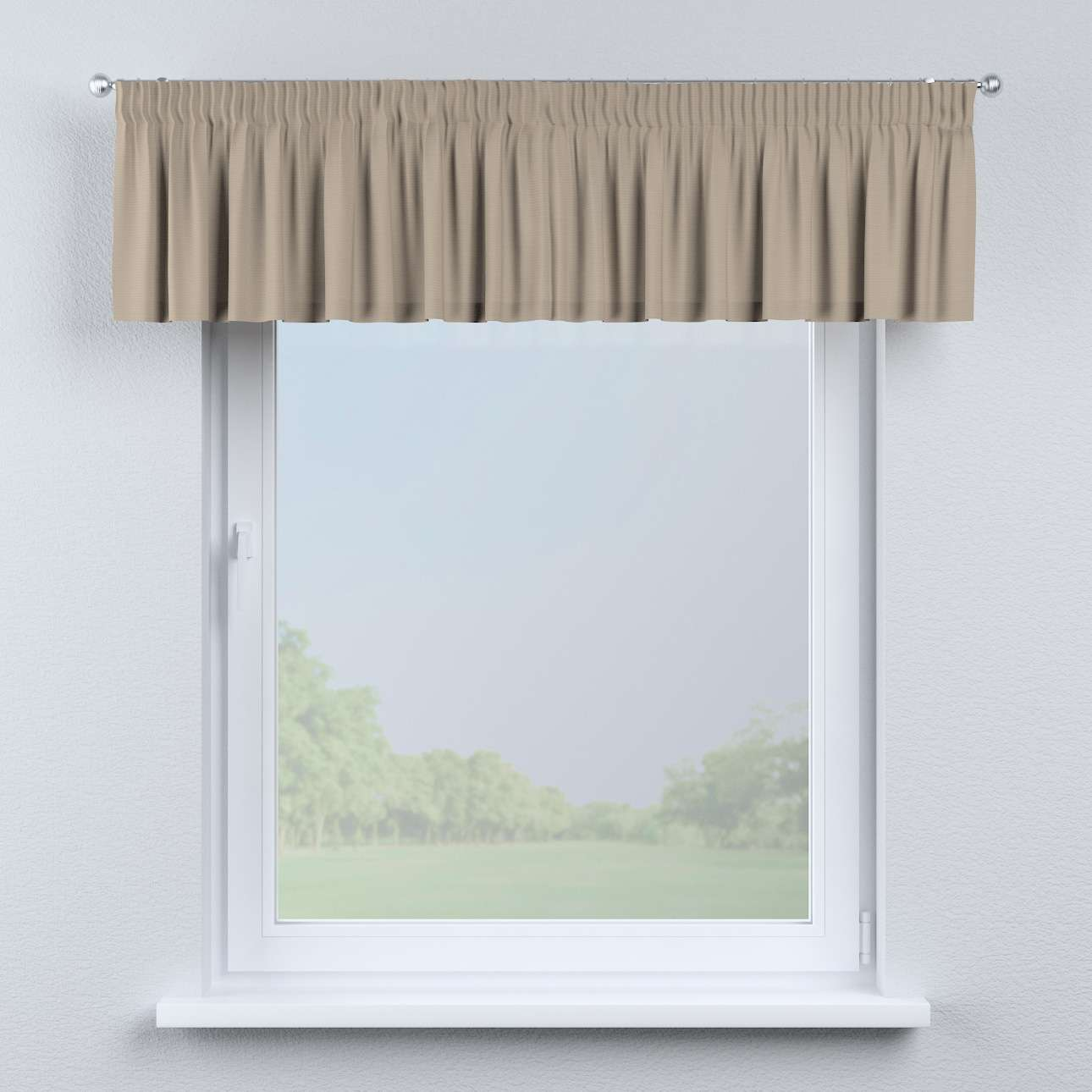 Gardinkappe med rynkebånd 130 × 40 cm fra kollektionen Cotton Panama, Stof: 702-28