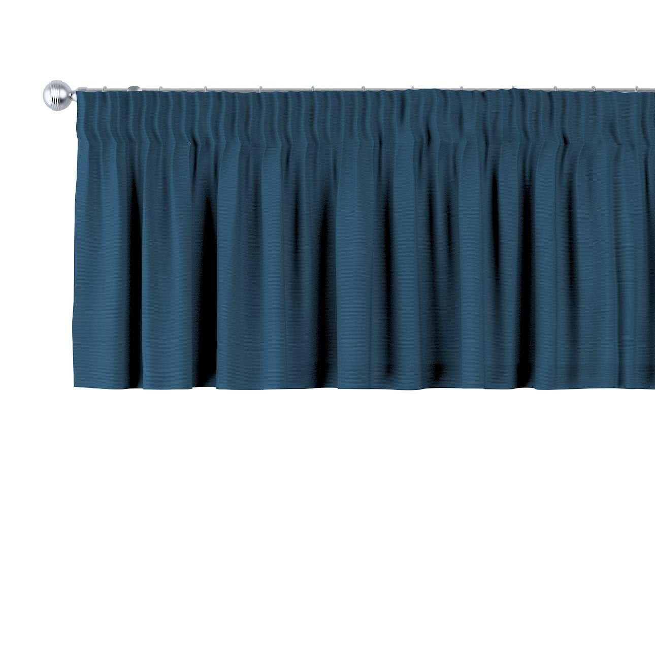 Trumpa užuolaidėlė (lambrekenas) pieštukinis klostavimas 130 x 40 cm kolekcijoje Cotton Panama, audinys: 702-30