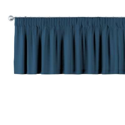 Krátky záves na riasiacej páske 702-30 modrá morská Kolekcia Cotton Panama