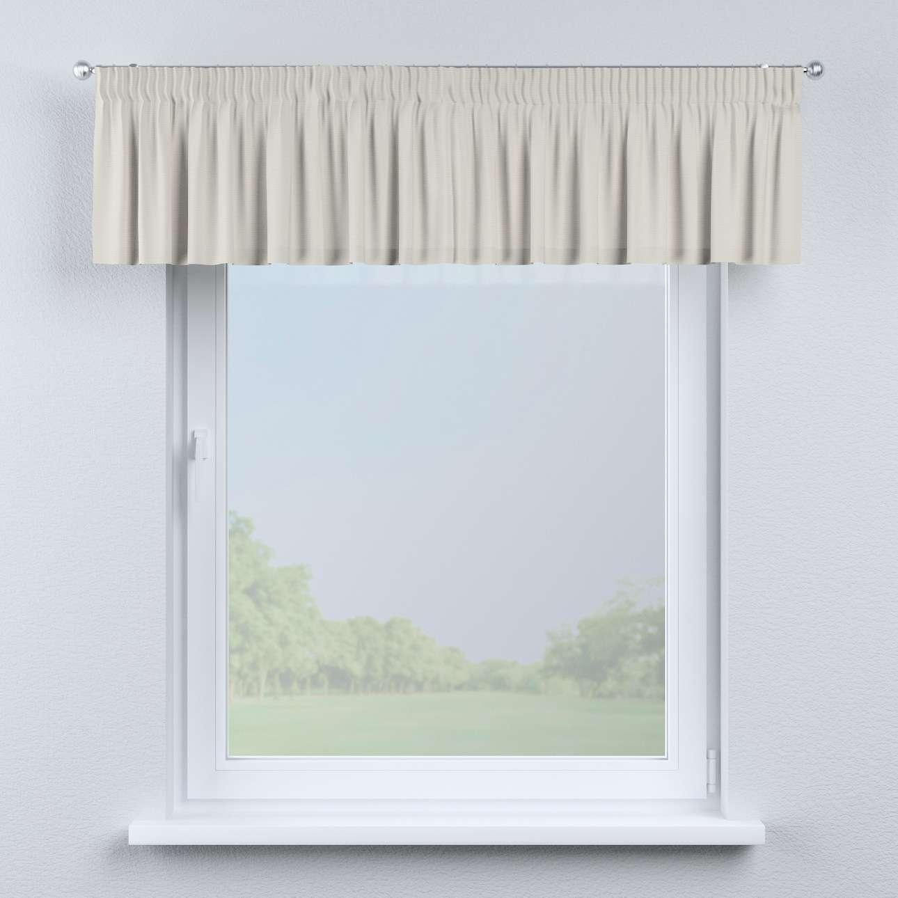 Gardinkappa med rynkband 130 × 40 cm i kollektionen Panama Cotton , Tyg: 702-31