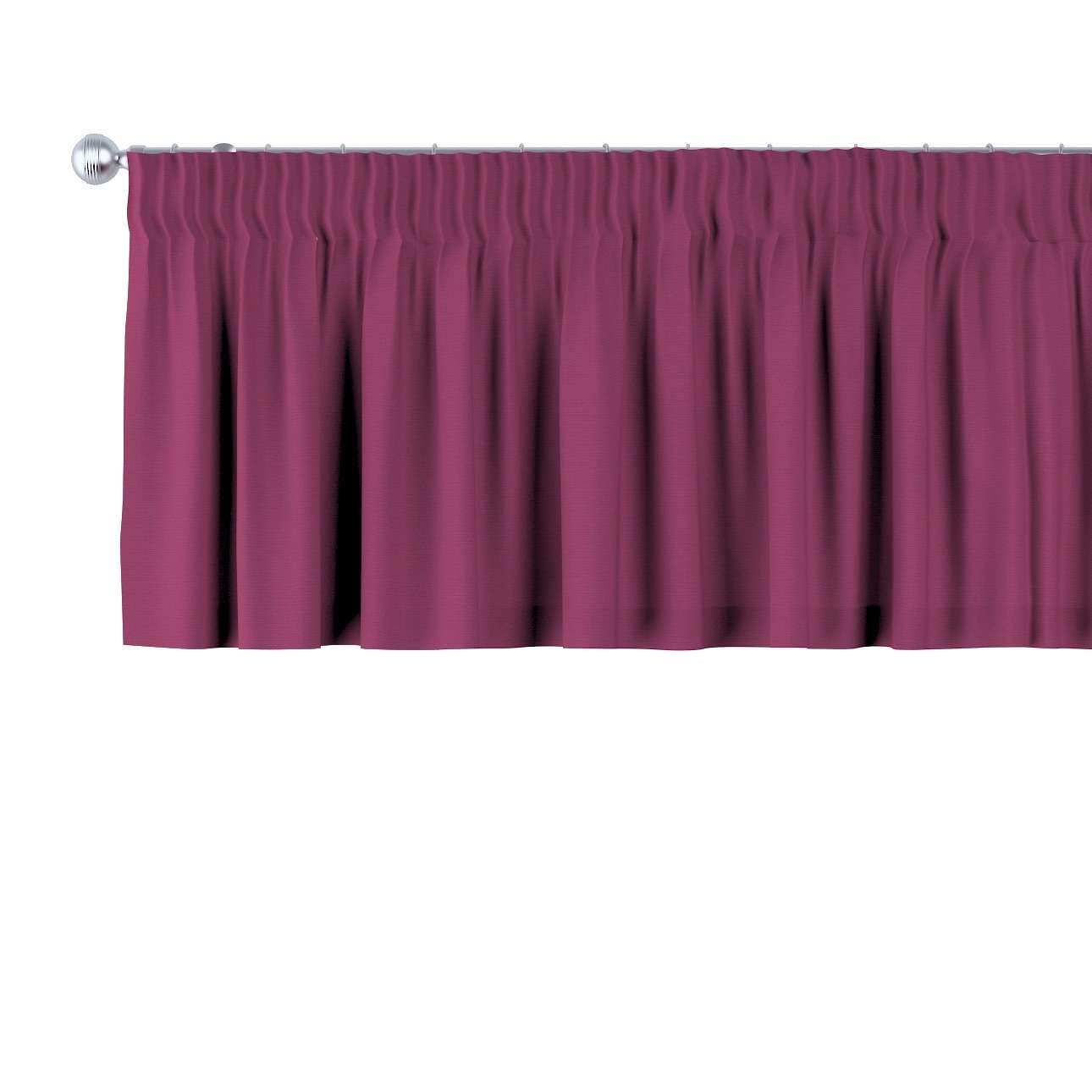 Krátky záves na riasiacej páske V kolekcii Cotton Panama, tkanina: 702-32