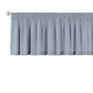 Trumpa užuolaidėlė (lambrekenas) pieštukinis klostavimas 130 x 40 cm kolekcijoje Quadro, audinys: 136-00